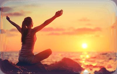 Woman Yoga Sun Ocean