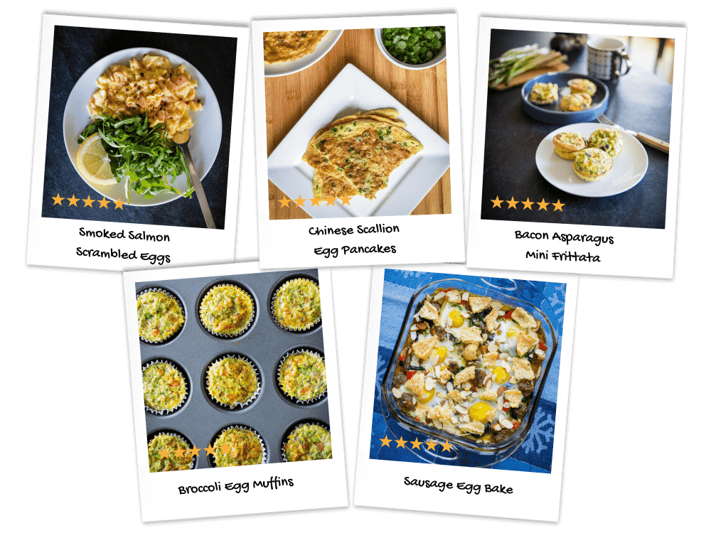 Breakfast Egg Recipes Collage-min